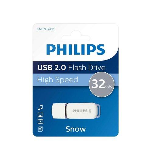 Philips 32GB Snow Series USB 2.0 Flash Drive Memory Stick