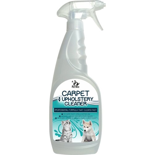 Pet Carpet & Upholstery Strain Remover Spray & Cleaner; removes dirt, hair, urine, faeces, grease, poo, pet smells without leaving a damp smell