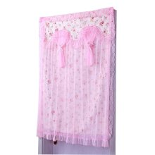 Home Products Elegance Lace Double Layer Door Curtain, 90 by 120 cm