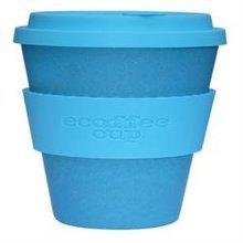 Ecoffee Cup Organic Bamboo Fibre Reusable Coffee Cup Aqua 400ml (order 36 for Trade Outer)