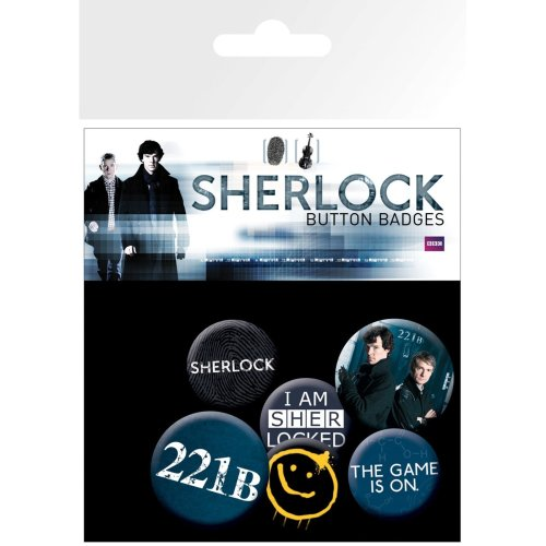 Sherlock Mix Badge Pack