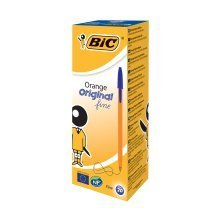 Bic Orange Fine Blue Pens (pack of 20)