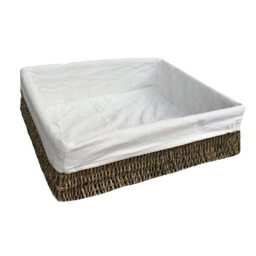 Extra Large Lined Rectangular Seagrass Tray