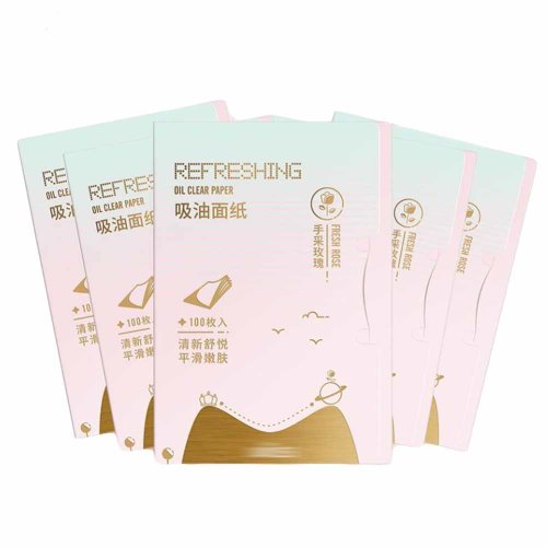 5 Pack Rose Oil-Absorbing Sheets for Oily Skin Care