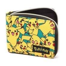 Pokemon All-over Pikachu Zip Wallet - Yellow (MW060818POK)