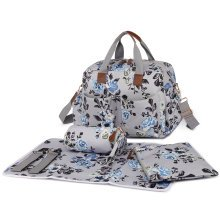 Miss Lulu 4pcs Baby Nappy Diaper Changing Bag Set New Flower Print