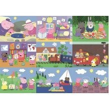 Peppa Pig 9-in-1 Puzzle Pack (12 - 50 Pieces)