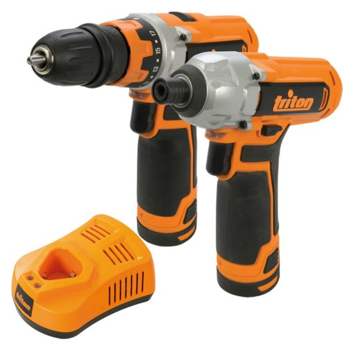 Triton T12 Drill Driver & Impact Driver Twin Pack Rechargeable 12V Li-Ion 972446