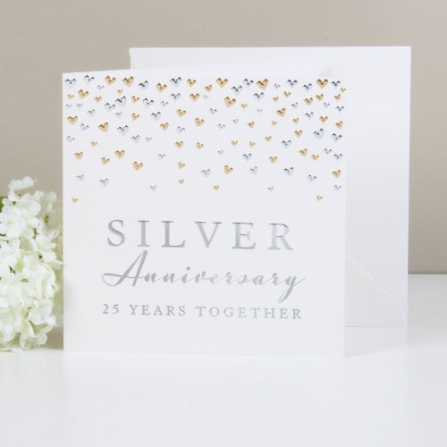 Amore Deluxe Card - Silver Anniversary
