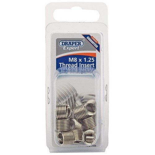 Draper 21709 Expert M8 x 1.25 Metric Thread Insert Refill Pack (12)