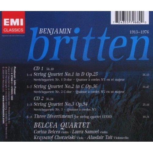 Britten: String Quartets 1, 2 & 3 - 3 Divertimenti