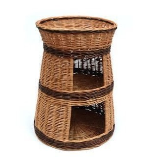 Three Tier Wicker Cat House