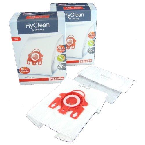 Miele Vacuum Cleaner FJM HyClean 3D Efficiency Dust Bag & Filter Pack - Pack of 8 Bags