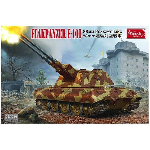 1:35 8.8cm Flakzwilling Flakpanzer E-100 Military Model Kit
