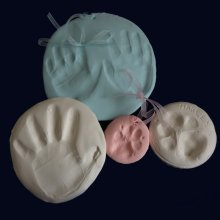 Baby Hand and Foot Print Air Drying Clay Impression Kit