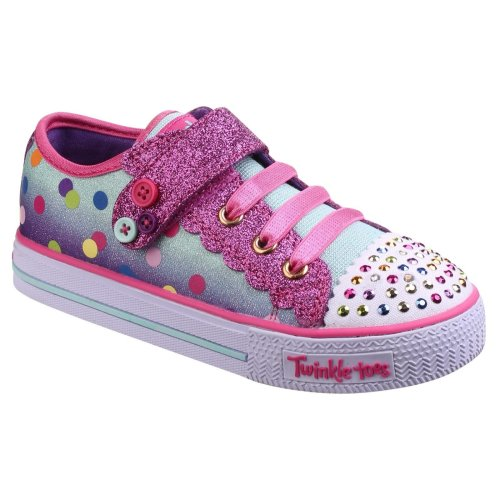 Skechers Childrens/Kids SK1068N Twinkle Toes Dazzle Dots Ombre Shoes