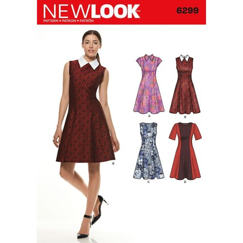 ff7cd41b7d New Look Size A 8 - 10 - 12 - 14 - 16 - 18 - 20 Sewing Pattern 6299 Misses'  Dresses, Multi-Colour on OnBuy