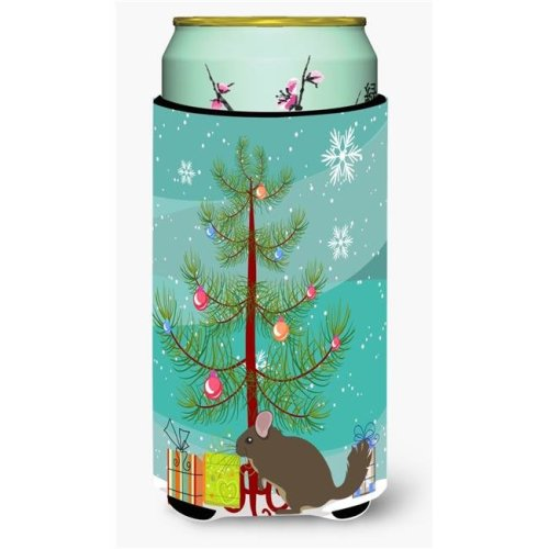 Carolines Treasures BB9242TBC Chinchilla Christmas Tall Boys Beverage Insulator Hugger