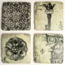 Ceramic Antique Black & White Coasters