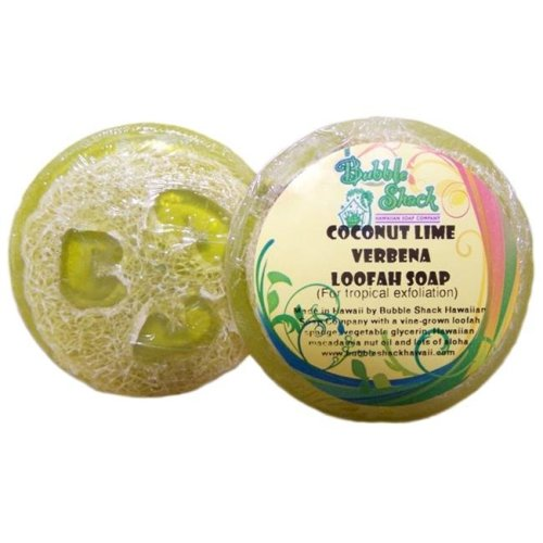 Bubble Shack Hawaii 492773500441 Coconut Lime  Loofah Soap - Pack of 2
