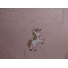 Harwoods Childrens Embroidered Pink Unicorn Face Cloth