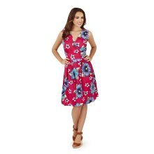 Pistachio Ladies Womens New 2016 Pink Flowing Cotton Holiday Sun Summer Dress