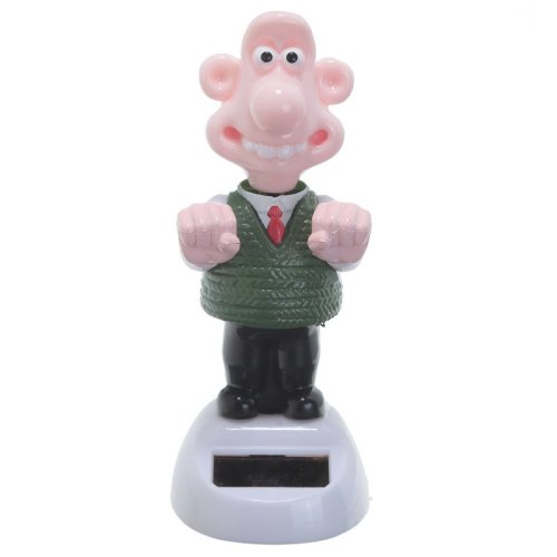 Solar Powered Wallace Pal Officially Licenced Nodding Dancing Novelty Home Car Window Dashboard Ornament Fun