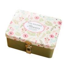 Cute Safe Lock Box Desktop Cosmetics Box-S/Khaki