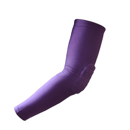 [PURPLE] Comb Pad Protection Compression Basketball Shooter Sleeve, Size L
