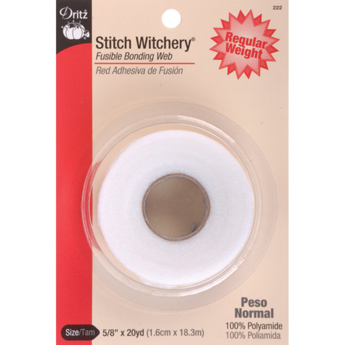 "Dritz Stitch Witchery Fusible Bonding Web Regular Weight-.625""X20yd"