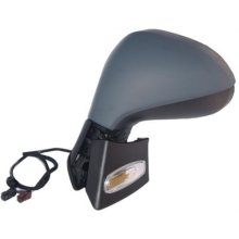 Peugeot 207 5 Door Hatchback  2006-2009 Door Mirror Electric Heated Manual Fold Type With Primed Cover Passenger Side L
