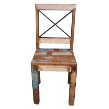 Shannon Reclaimed Wood Chair - Assembled - X Back