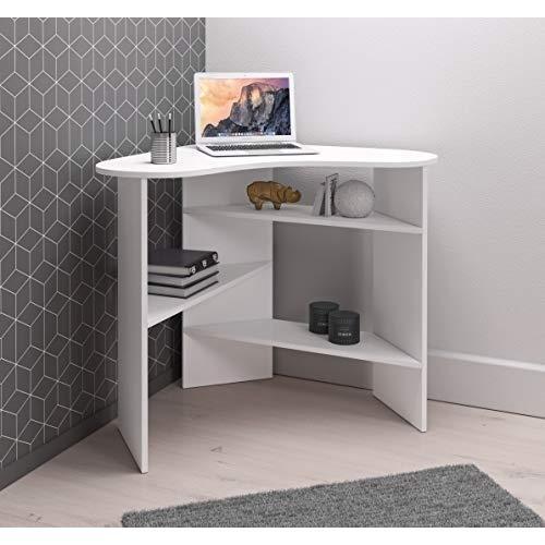 Incredible E Com Corner Desk Table Desk With Storage Shelves Coral 110 Cm Download Free Architecture Designs Estepponolmadebymaigaardcom