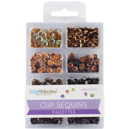 Cup Sequins 7mm .56oz-Box Of Chocolate