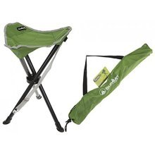 Summit Tripod Camping Stool | Green Fishing Stool with Carry Bag