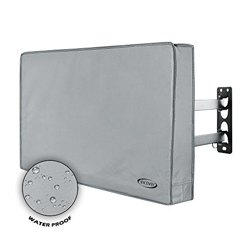 InCover 32 Outdoor TV Cover Water and Dust Resistant Fits over most TV Mounts and Stands Builtin pocket for TV Remote