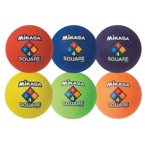Mikasa Sports 1507821 8.5 dia. Assorted Rubber Cover Playground Ball Set - Set of 6