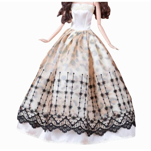 Set of 2 New Decent Beautiful Wedding Dress Skirt For 11.81-inch Doll-05
