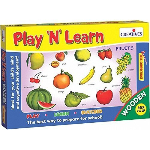 Creative Educational - Play'n' Learn-wooden – Fruits - Play Cre0334 Learnwooden -  creative educational play fruits cre0334 learnwooden game
