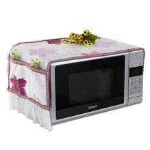 Microwave Oven Dust Cover Dustproof Cloths with Pockets Maple Leafs Purple