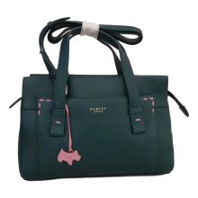 RADLEY 'Villiars Road' Green Leather Medium Multiway Bag