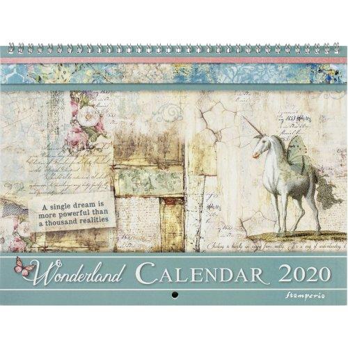 """Stamperia 2020 Wirebound Calendar 11.75""""X8.75""""-Wonderland"""