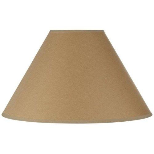 Cal Lighting SH-8109-17-KF 17 in. Vertical Basic Coolie Linen Hardback Shade, Kraft