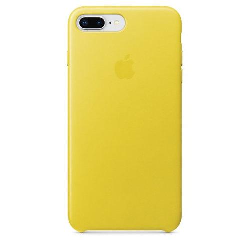 Apple iPhone 8 Plus / 7 Plus Leather Case - Spring Yellow