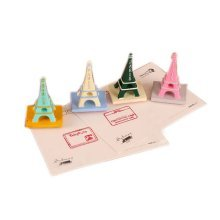 Set of 4 Creative Eiffel Tower Stamps Letter Stamps