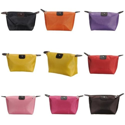 Waterproof Nylon Cosmetic Makeup Bag Handbag Purse Pouch Zipper