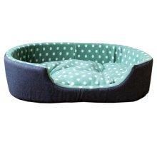 Detachable House Pet Mat Stylish Rectangle Pet Bed Pet House Kennel Dots Green