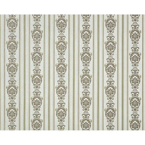 EDEM 660-95 non-woven baroque wallpaper XXL fabric green gold off-white 10.65 m2