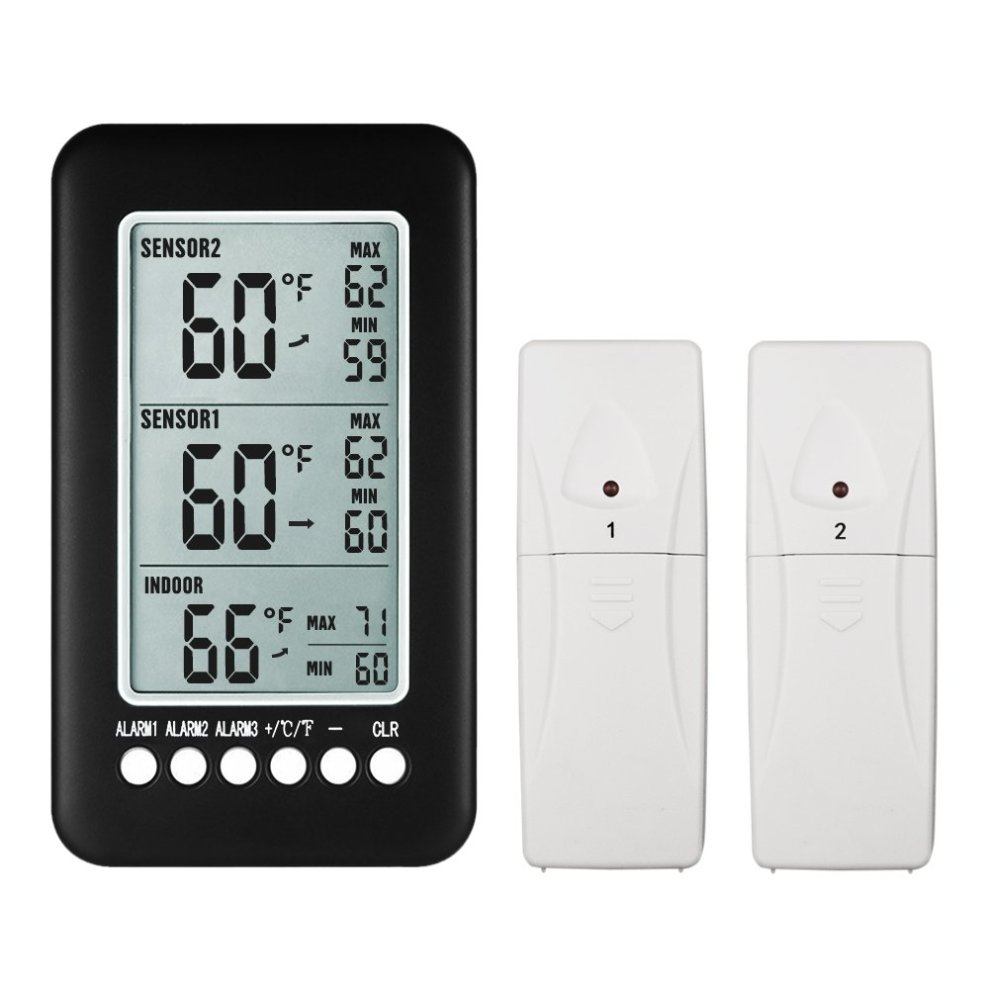 Gazechimp LCD Digital Wireless Thermometer for Indoor Outdoor Temperature Meter