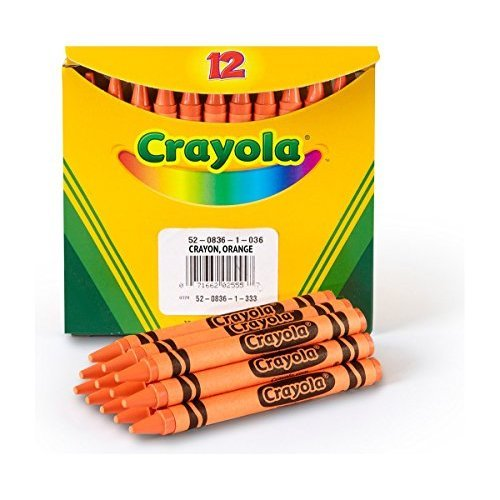 Crayola Non Toxic Regular Single Color Refill Crayon 12 Pack 5 16 x 3 5 8 Orange